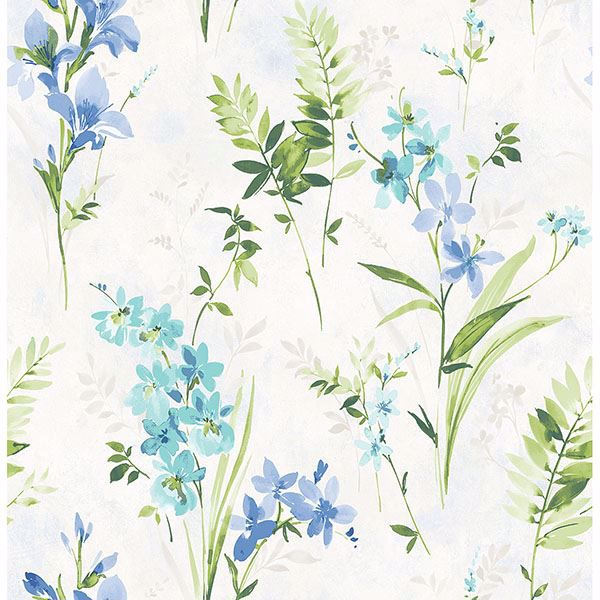 Picture of Henrietta Blue Floral Wallpaper