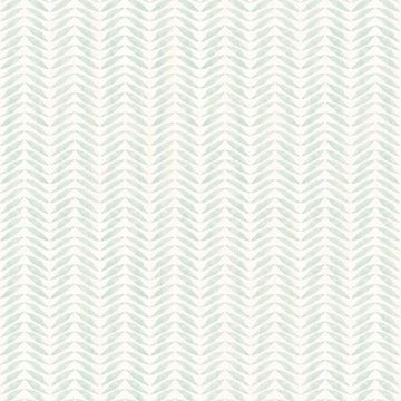 Picture of Espalier Teal Chevron Stripe Wallpaper