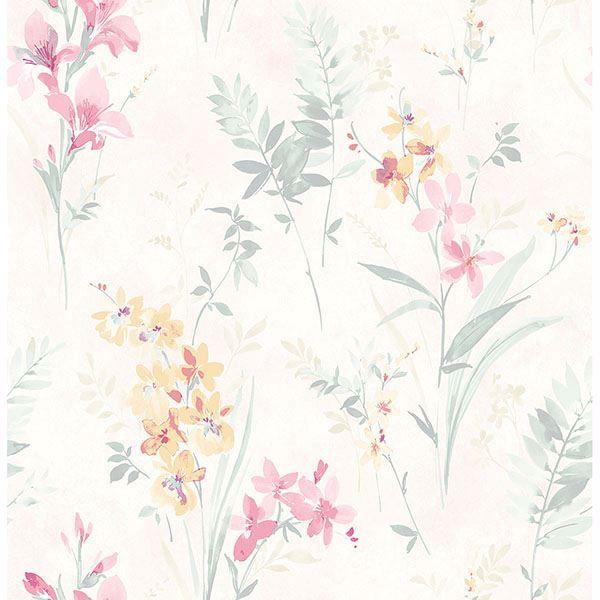 3117 24181 Henrietta Pastel Floral Wallpaper By Chesapeake