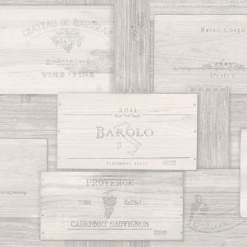 Picture of Randolph Grey Wine Boxes Wallpaper