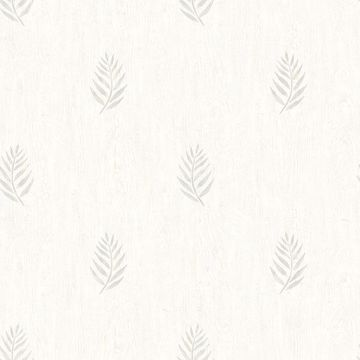 Picture of Vista Grey Leaf Wallpaper