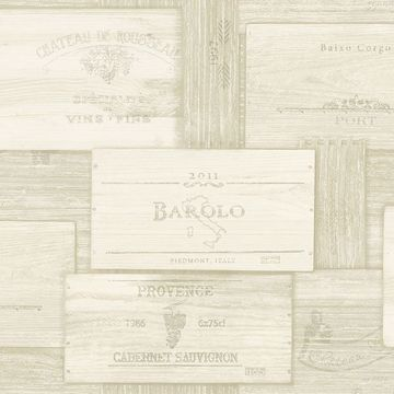 Picture of Randolph Cream Wine Boxes Wallpaper