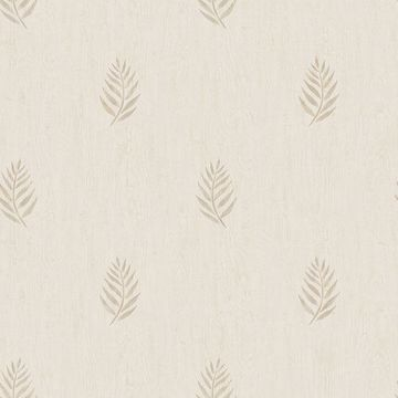 Picture of Vista Beige Leaf Wallpaper