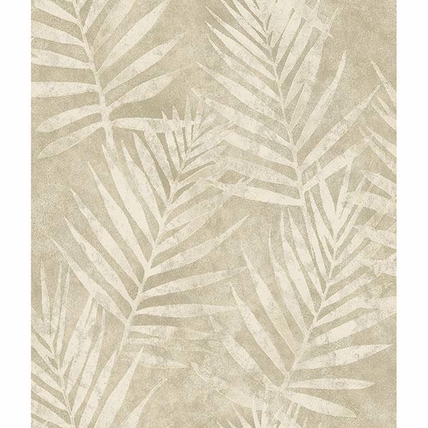Picture of Amador Pewter Palm Wallpaper