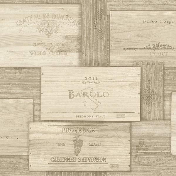 Picture of Randolph Beige Wine Boxes Wallpaper