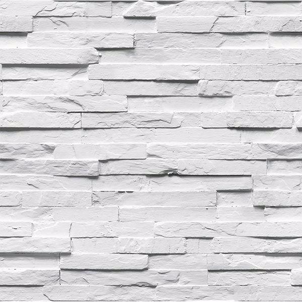 Picture of White Felman Ledgestone Wallpaper