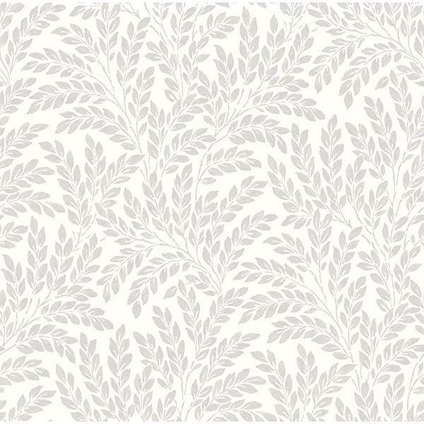 Picture of Grey Jade Leaf Wallpaper