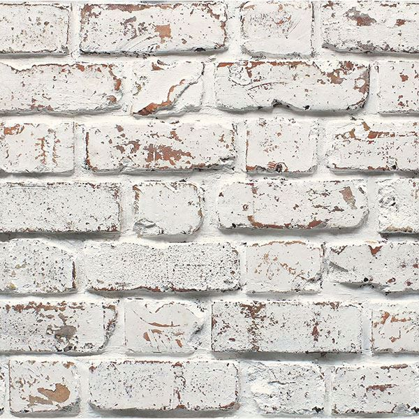 Picture of White Calder Rustic Brick Wallpaper