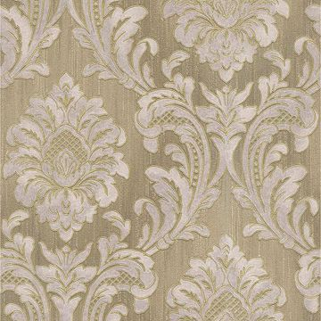 Picture of Giudecca Taupe Damask Wallpaper