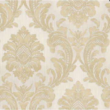Picture of Giudecca Cream Damask Wallpaper