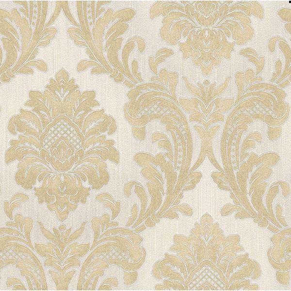 Picture of Giudecca Cream Damask Wallpaper