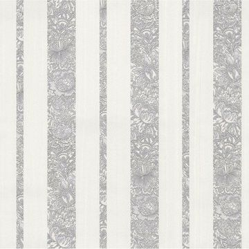 Picture of Certosa Silver Floral Stripe Wallpaper