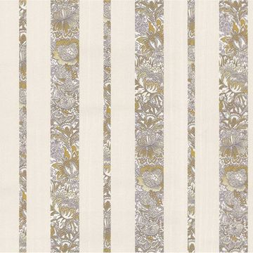 Picture of Certosa Lavender Floral Stripe Wallpaper