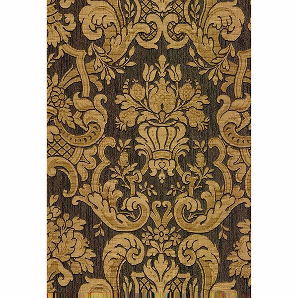 Picture of Milano Brown Damask Wallpaper