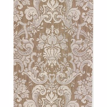 Picture of Milano Taupe Damask Wallpaper