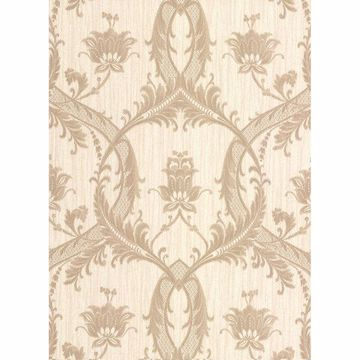 Picture of Vignole Beige Damask Wallpaper