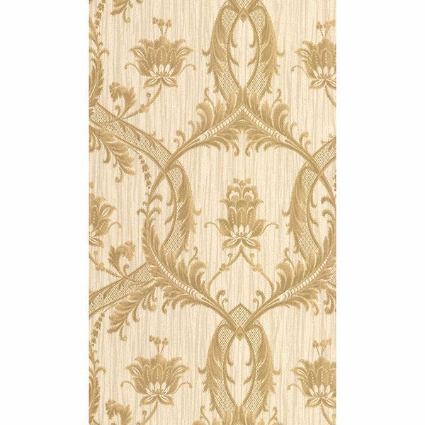 Picture of Vignole Gold Damask Wallpaper