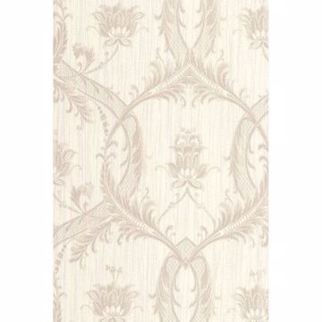 Picture of Vignole Platinum Damask Wallpaper