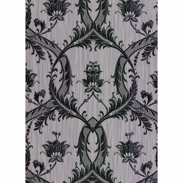 Picture of Vignole Grey Damask Wallpaper