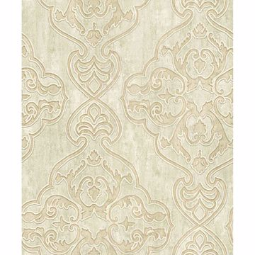 Picture of Elena Beige Damask Wallpaper