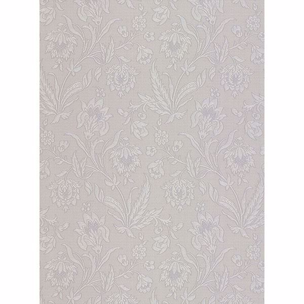 Picture of Torcello Silver Floral Wallpaper