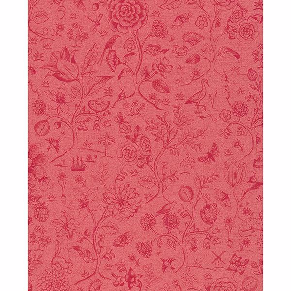 Picture of Ambroos Red Woodland Wallpaper