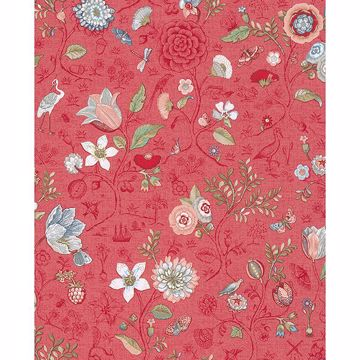 Picture of Espen Red Floral Wallpaper
