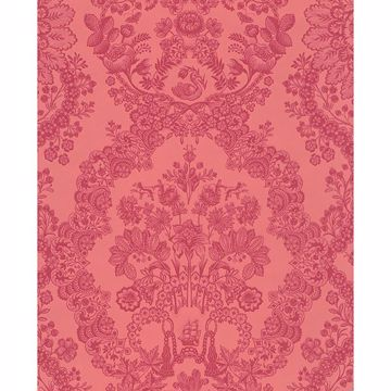 Picture of Grillig Red Damask Wallpaper