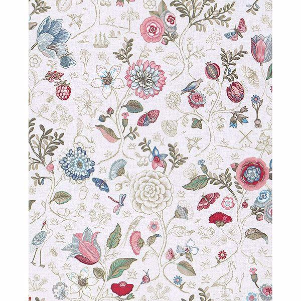 Picture of Espen Bone Floral Wallpaper