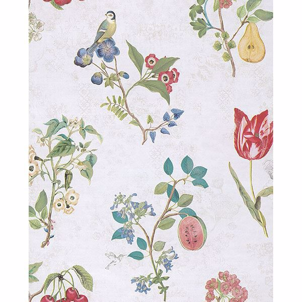 Picture of Danique White Garden Wallpaper