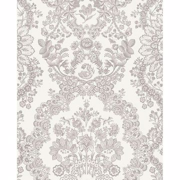 Picture of Grillig Taupe Damask Wallpaper