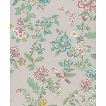 Picture of Willem Beige Painted Garden Wallpaper