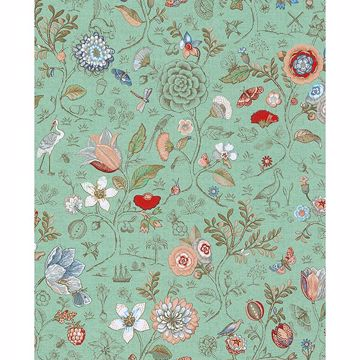 Picture of Espen Turquoise Floral Wallpaper