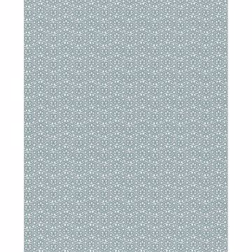 Picture of Lotte Slate Floral Geometric Wallpaper