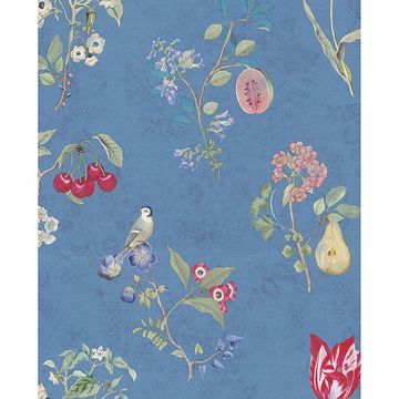 Picture of Danique Sky Blue Garden Wallpaper