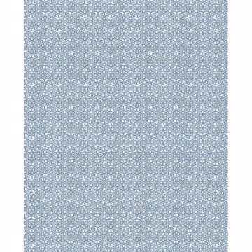 Picture of Lotte Blue Floral Geometric Wallpaper