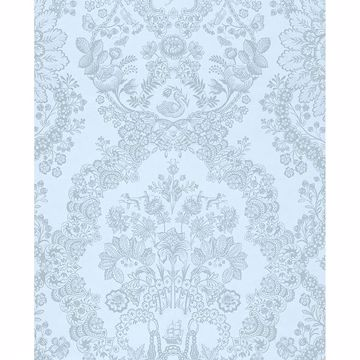 Picture of Grillig Light Blue Damask Wallpaper