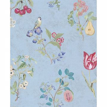 Picture of Danique Light Blue Garden Wallpaper