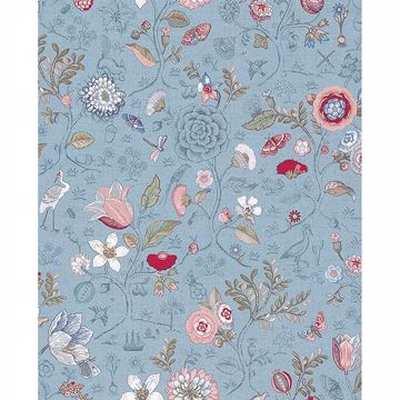Picture of Espen Sky Blue Floral Wallpaper