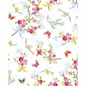 Picture of Ilse Silver Cherry Blossom Wallpaper