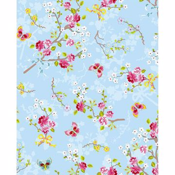 Picture of Ilse Light Blue Cherry Blossom Wallpaper
