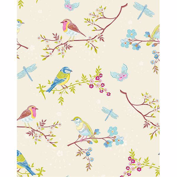Picture of Marit Cream Bird Wallpaper