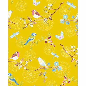 Picture of Marit Mustard Bird Wallpaper