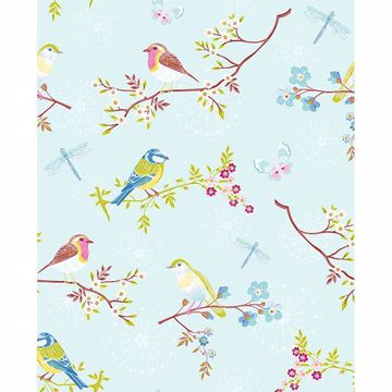 Picture of Marit Light Blue Bird Wallpaper