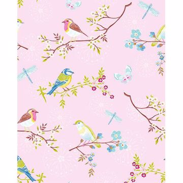 Picture of Marit Light Pink Bird Wallpaper