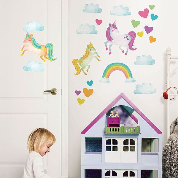 Picture of One Love Unicorns Wall Art Kit