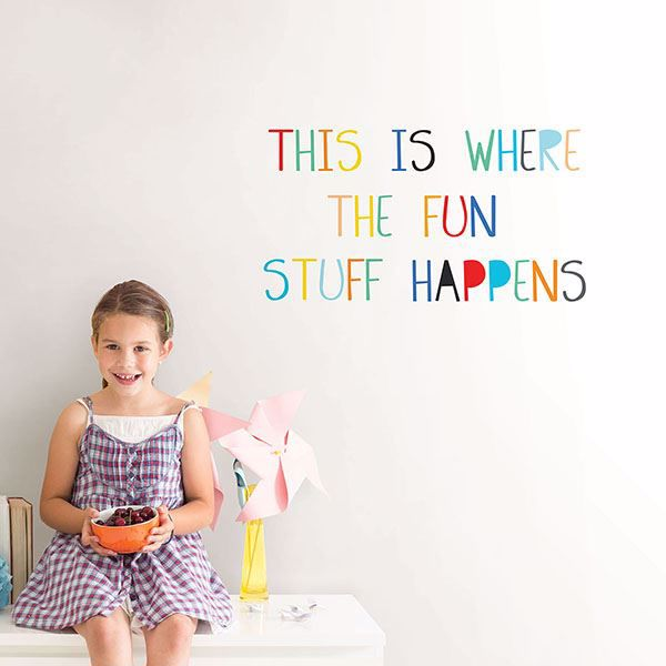 Picture of Fun Stuff Wall Quote Decals