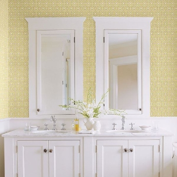 Picture of Boxwood Yellow Geometric Wallpaper