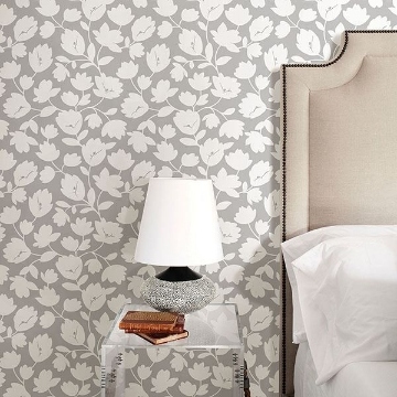 Picture of Astrid Grey Floral Wallpaper