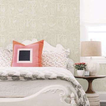 Picture of Poem d´Amour Beige Folk Wallpaper